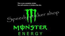 2x monster energy text logo car van bike helmet side body stickers decals