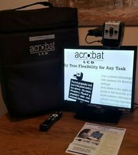 Enhanced Vision Acrobat ACVE19A+Case LCD Video Reader Magnifier w/ Case & Remote