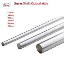 OD 8mm Axis Chromed Smooth Rod Steel Linear Rail Shaft L100/200/300/400/500mm