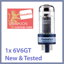1x NEW Genalex Gold Lion 6V6 / 6V6GT / CV 511 Vacuum Tube TESTED