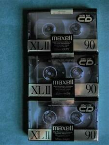 2 Maxell High Bias XLII 90 Min Sealed Cassette Tapes 1 Unsealed and Unused