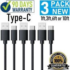 3ft (1M) High quality Type C USB Black PVC Cable For LG G6 V20 V30,Samsung,ZTE