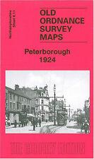 OLD ORDNANCE SURVEY MAP PETERBOROUGH 1924
