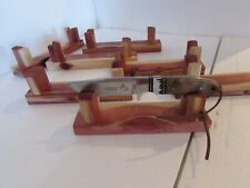 "Knife Stand/ 8"" or 9"" Nice Cedar Handmade In Usa - Real Hand Rub Finish/Sale!"