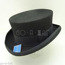 VINTAGE Wool Felt Tuxedo Men Top Hat Coachman Gentlemen Topper | 57cm | Black
