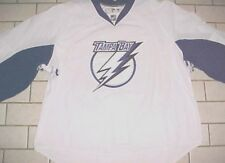 Tampa Bay Lightning NHL Reebok Canada White Blue Fighting Strap Jersey 58+ New