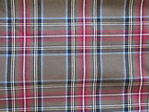 """VTG Ralph Lauren Tartan Plaid Cotton Pillow Cover 18"""" Green Blue Red Yellow New"""