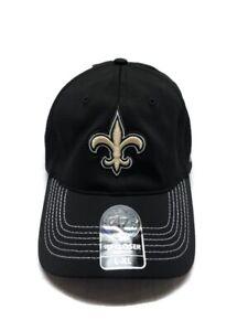 New Orleans Saints NFL 47 Brand Closer Stretch Cap Black NWT Size L/XL