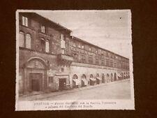Perugia nel 1922 Piazza Garibaldi, vecchia Università e Palazzo del Capitano