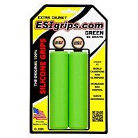 ESI Extra Chunky Silicone MTB Mountain Bike Bicycle Handlebar Grips 80g - Green