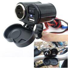 Presa USB Caricabatteria Adattatore Accendisigari per Auto Camper Moto CELLULARE