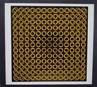"""Victor Vasarely """"0662-Tuz-3"""" Mounted Offset Color Lithograph 1971"""