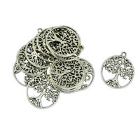 20pcs Tree Of Life Pendant Charms DIY Jewelry Tibetan Silver 29x24mm