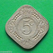 1929 Netherlands 5 Cents SNo37936