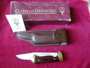 NEW GORGEOUS MUELA XL KNIFE FOLDING MOLIBDEN VANADIUM BLADE RED WOODEN HANDLES