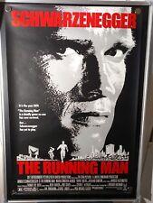 The Running Man Arnold Schwarzenegger Original Rolled 27x40 Movie Poster 1987