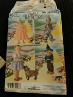 Simplicity 4024 Toddler Wizard of Oz Character Costumes Child Sizes 1/2 - 4