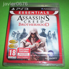 ASSASSINS CREED BROTHERHOOD NUEVO Y PRECINTADO PAL ESPAÑA PLAYSTATION 3 PS3
