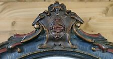 """Vintage Arched Antique Hanging Wall Mirror with Ornate Top 33.5""""x16.5"""""""