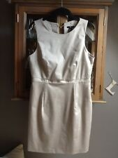 H&M smart beige shift dress UK 12