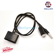 30Pin iPhone 4 Dock to Micro USB & Audio Adapter Charger Cable for Samsung Black