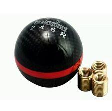 Mugen real de fibra de carbono 6 Velocidades Gear Shift perilla Red Stripe DC5 EP3 Tipo R S2000
