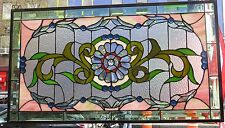 Stained Glass Window - Geometric Floral / Flower Pattern - New #33