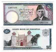 Pakistan 50 RUPEES 1977-1984 no urdu testo Sign 9 UNC P 30