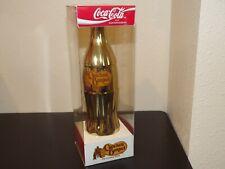 1994 Coca Cola Gold Plated Cracker Barrel Store 8 oz. Commemorative Bottle MIB