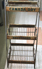 "Vintage 1940's Canada Dry Ginger Ale General Store Display Rack Metal 38"" Tall"