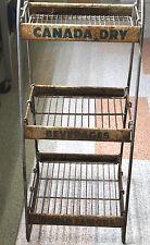 "Vintage 1940's Canada Dry Ginger Ale General Store Display Rack Metal 38"" Tall"