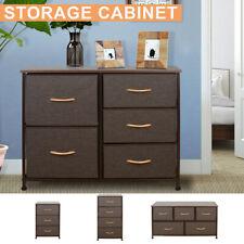 3/4/5 Drawers Fabric Dresser Storage Tower Closet Organizer Bedroom Home Office