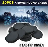 20pcs - 50mm Round Bases Gaming Miniatures wargame Circular Warhemmer Base Model