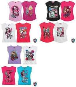 Girls t-shirt Monster High summer t-shirts short sleeve cotton small sizing