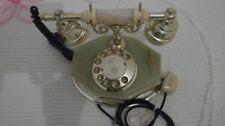 Telefono vintage in marmo onice CON BASE OTTAGONALE