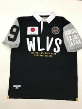 "Iro Ochi Black White Wolves Don't Loose Sleep ""Polo� Style Mens Large Nice New"