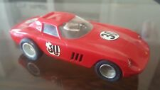 Vintage 1960s Slot Car 1/32 Monogram Models 1964 Red 30 Ferrari w Driver Used