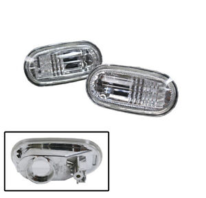 FOR 97-02 MITSUBISHI MIRAGE COUPE/SEDAN SIDE MARKER LIGHT LAMPS PAIR (LH+RH) NEW