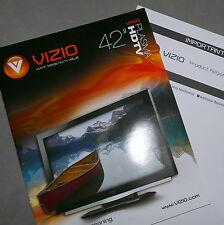 """Ephemera Manual TV Vintage VIZIO 42"""" - VP423"""