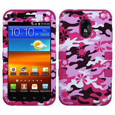 US Cellular Samsung Galaxy S II IMPACT TUFF HYBRID Case Phone Cover Pink Camo