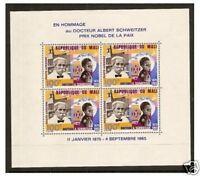 Mali - 1965 Dr. Albert Schweitzer sheet - MNH - SG MS1116a