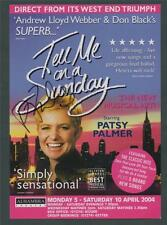 SIGNED Patsy Palmer. 'TELL ME ON A SUNDAY' 2004 flyer Alhambra Theatre  ad.64