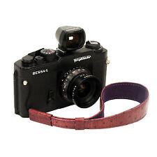 Wine leather wrist strap for RF film Digital camera Leica
