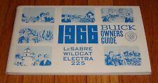 Original 1966 Buick LeSabre Wildcat Electra 225 Owners Operators Manual