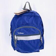 LL Bean NWT Backpack Junior 18x13x5 Reflective Weatherproof Nylon Royal Blue