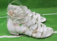 Summer White Womens Shoes Roman Gladiator Flat sexy open toe Sandals Size 7