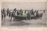 Postcard Launching the Boat Wildwood NJ New Jersey