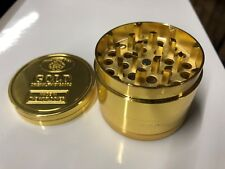 Gold Grinder 4 Part Herb Crusher Magnecttic Metal Rolling Catcher UK Gold Bar
