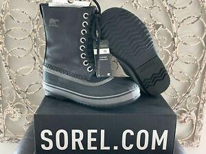SOREL   Women's 6 US (4 UK) 1964 CVS Black Quarry Canvas Waterproof Duck Boots
