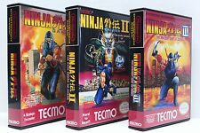 Ninja Gaiden 1, 2, 3, 1-3 - NES Custom Cases Set - NO GAMES INCLUDED